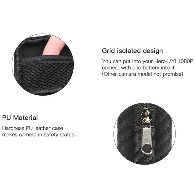 SHOOT Portable  Waterproof Camera Bag Case for Xiaomi Yi 4K Mini Box Collection