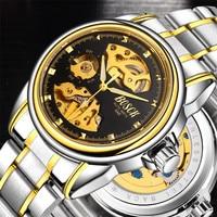 2017 Latest Automatic Mechanical Watch Waterproof Men Skeleton Men S Stainless Steel Watch Well Known Brand