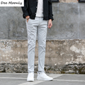 DEE MOONLY Men pants 2017 New fashion casual pants men new design high quality cotton mens pants 7 colors size 28-36