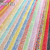 Colorful Hot Fix Ferro su SS6 2 Millimetri di Vetro Pieno Rhinestones di Cristallo in Rilievo Banding Copriletto Maglia Adesivi Abito da Sposa Applique trim