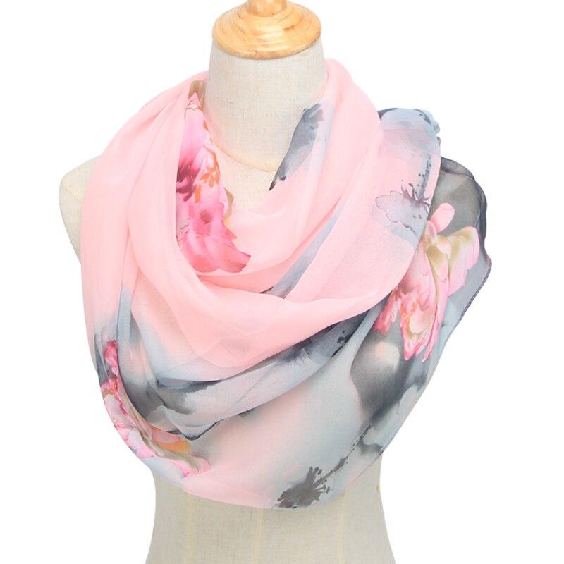 New Arrival 2020 Spring And Autumn Chiffon Women Scarf Polyester Geometric Pattern Design Long Soft Silk Shawl QQS003