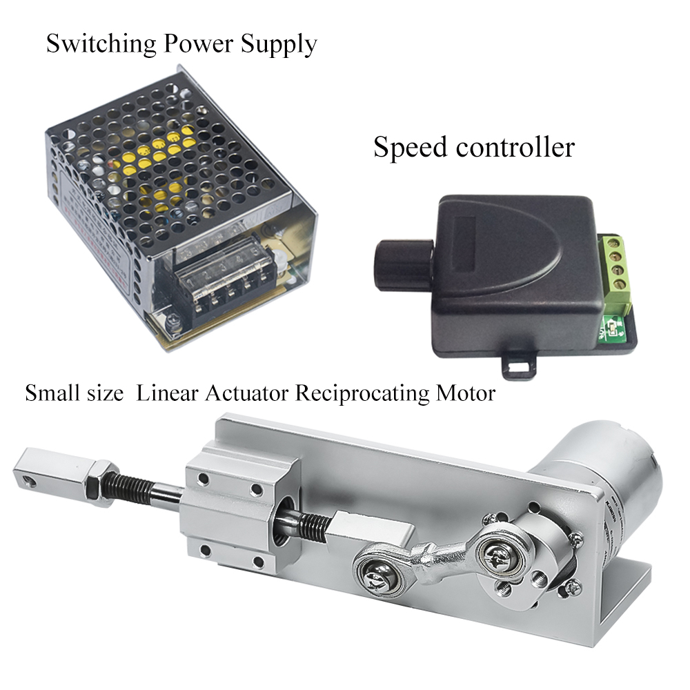 Small DIY Design Reciprocating Linear Actuator Kit With Switching Power Supply&Speed Controller DC Motor 12V 24V For Sex MachineSmall DIY Design Reciprocating Linear Actuator Kit With Switching Power Supply&Speed Controller DC Motor 12V 24V For Sex Machine