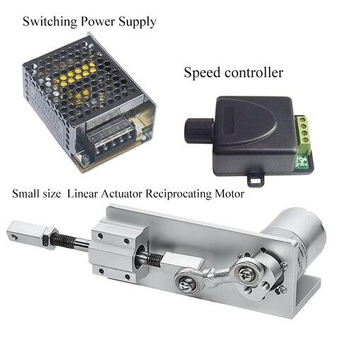 pequeno diy projeto kit atuador linear alternativo com comutacao de alimentacao controlador de velocidade do