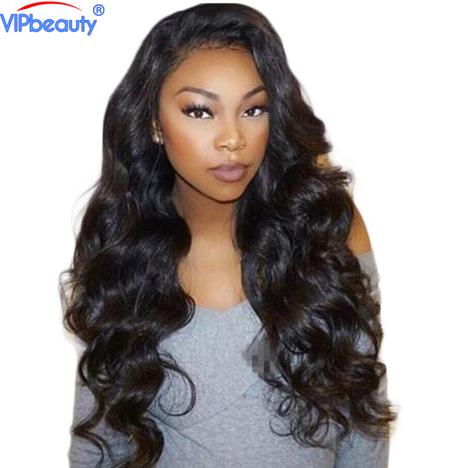 Vip beauty 180 density Peruvian body wave lace front human hair wigs wigs for black women