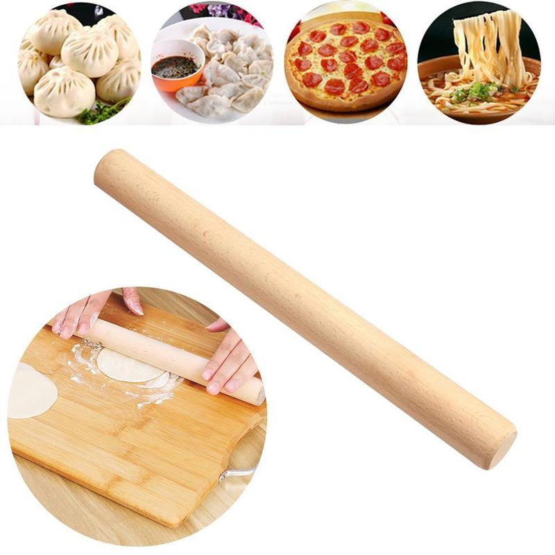 Kitchen Solid Wood Rolling Pin Fondant Dough Roller Baking Kitchen Cooking Tools Accessories Cake Decoration