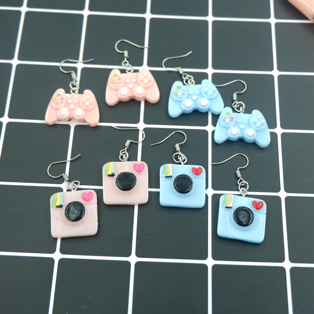 Earrings Jewelry Camera Game-Controller Trendy-Style Girl Woman Kawaii