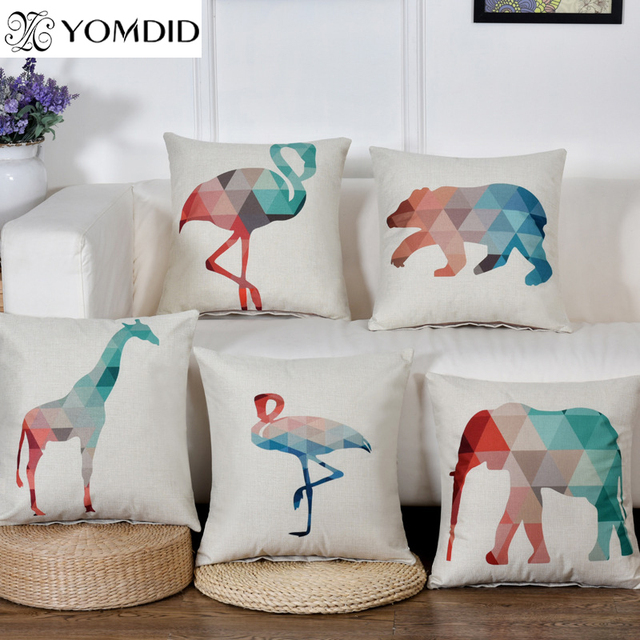 Nordic Style Cushion Cover Geometric Animals Pillow Cases Linen New Decorating Pillow Cases