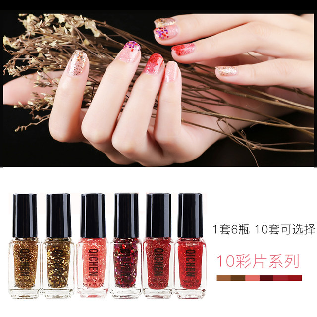 5ml Nail Art Tools Quick Dry Polish Glitter Vernis A Ongles 6 Bottles Lots Red White Magic Colors Matte Lot