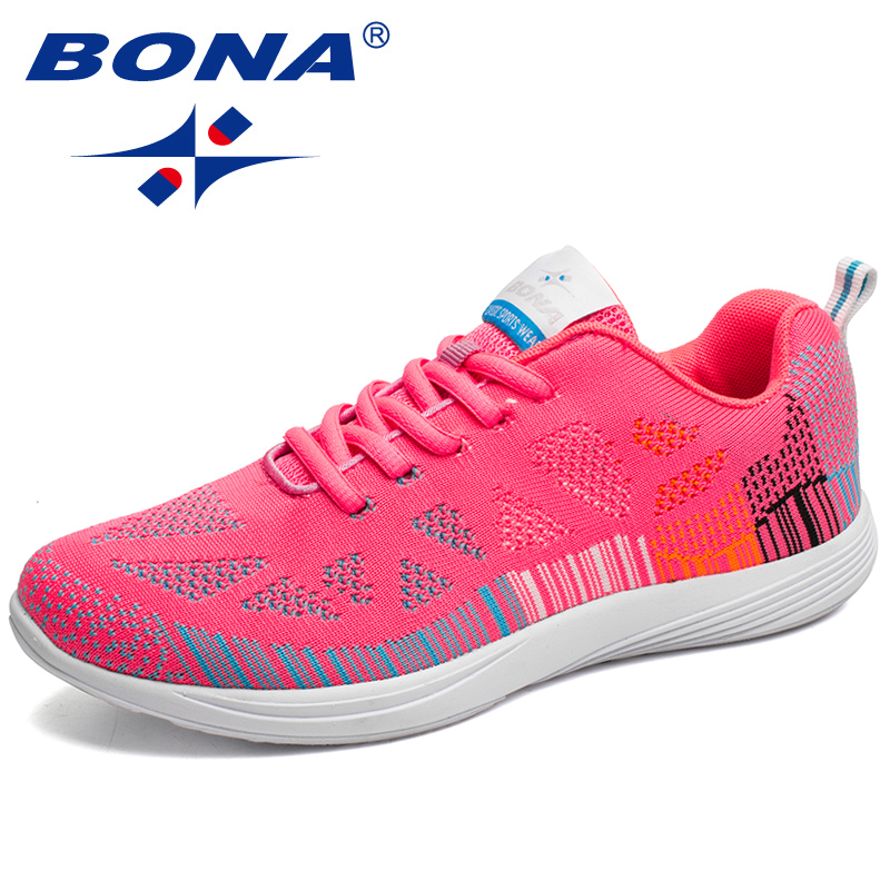 BONA New Hot Style Women Running Shoes Colorful Lace Up Athletic Shoes Women Outdoor Walking Jogging
