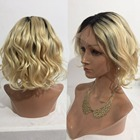 Eversilky Short Bob Wig Brazilian Body Wave Full Lace Human Hair Wigs for Women Blonde Wig Remy Human Hair Dark Roots Ombre Wig