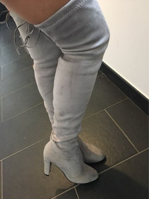 Women's Suede Over The Knee Stretch Boots