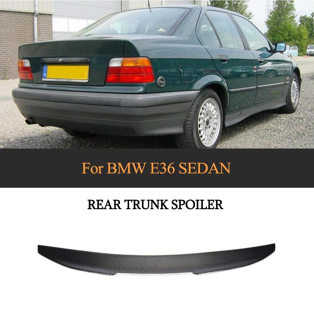 Trunk Lip Spoiler for BMW 3 Series E36 Sedan 1991 - 1998 PSM Style Carbon Fiber Rear Wing Boot LidTrunk Lip Spoiler for BMW 3 Series E36 Sedan 1991 - 1998 PSM Style Carbon Fiber Rear Wing Boot Lid