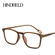 7beb9bbb81d HINDFIELD TR90 Wood grain Glasses Frame Women Brand design Clear Optical  Computer Myopia Eyeglasses Frame lentes opticos mujer