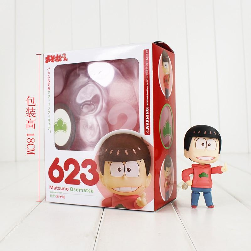 ФОТО 9cm japan anime osomatsu-san osomatsu action figure pvc collection model toys brinquedos for christmas gift