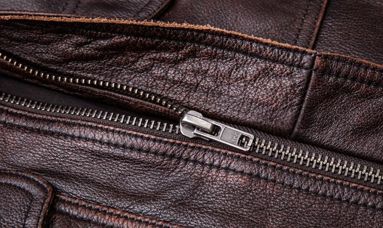 HTB1ANMNFpuWBuNjSszbq6AS7FXaU MAPLESTEED Brand Vintage Leather Jacket Men 100% Cowhide Red Brown Black Natural Leather Jackets Men's Leather Coat Autumn M174