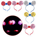 Led Sequin Headband Mickey Mouse Ear Model 12pcs/lot suit for Party Birthday Kid Gift bot Hairband Halloween supplies