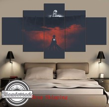 5 Pieces Modern HD Print Canvas Painting Art Attack on Titan Anime Wall for Home Decorations Decor ArtWork