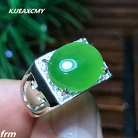KJJEAXCMY Fine jewelry 925 sterling silver jasper male ring wholesale all natural Cai Bao live mouth