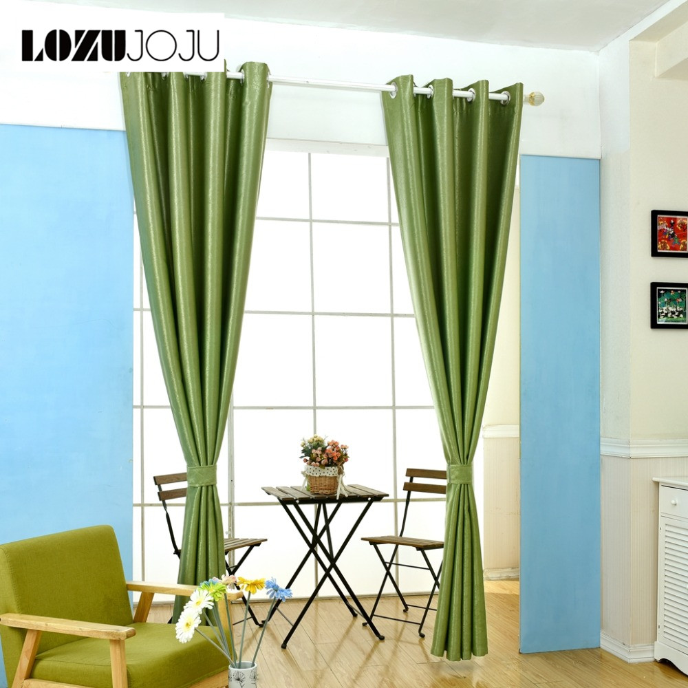 LOZUJOJU Free shipping modern curtains room curtains home treatments Solid window blackout shade bedroom for decor full curtains