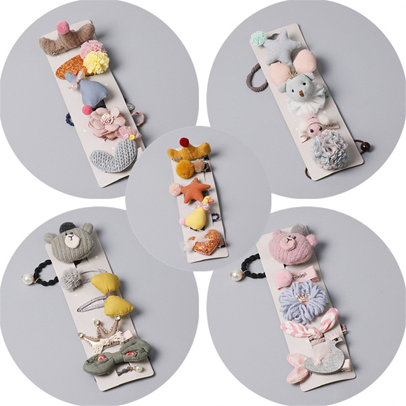 BalleenShiny Lovely Baby Girls Hair Ring Hairpin Infant Cute Mouse Cartoon Hair Clip Elastic Hair Rope Kids Princesses Headwear