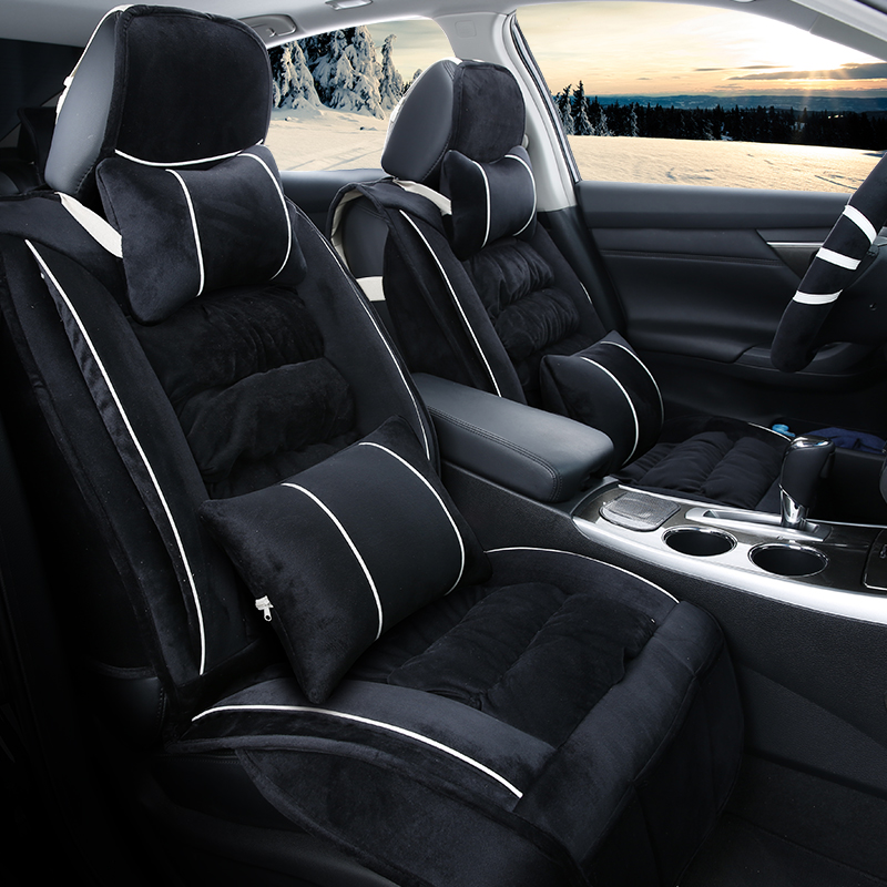 3D Winter Plush Car Seat Cover Cushion For Renault Scenic Fluence Latitud Koleos Laguna Megane cc Talisman,