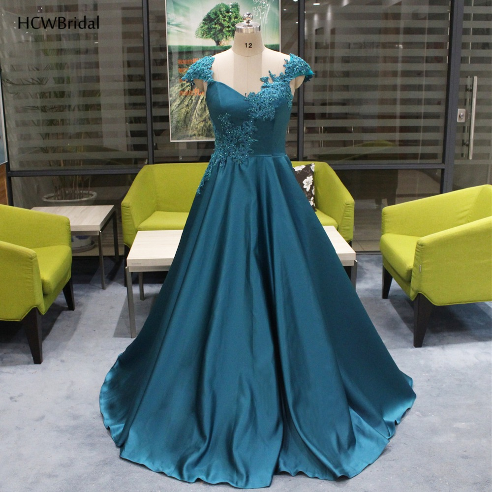 Exquisite Beaded Lace Long   Evening     Dress   2019 Backless A Line Sweep Train Sexy Formal Gown Custom Made Women Party   Dresses   Cheap