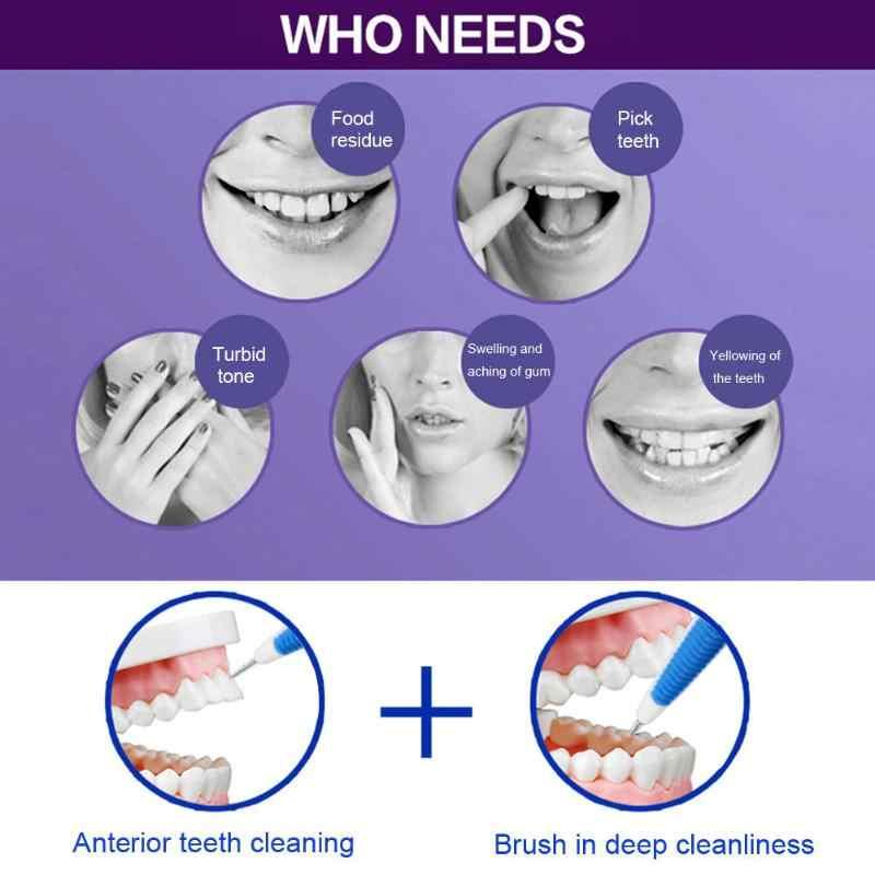 ... 8 unids set herramientas limpias orales ortodoncia Cuidado Oral Kit  dientes blanqueamiento traje cepillo de ... ad9da07806b7