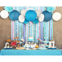 Set of 13 (Blue,Pink) Beach-Themed Party Under the Sea Decoration Girls Boys Birthday Baby Shower 1st
