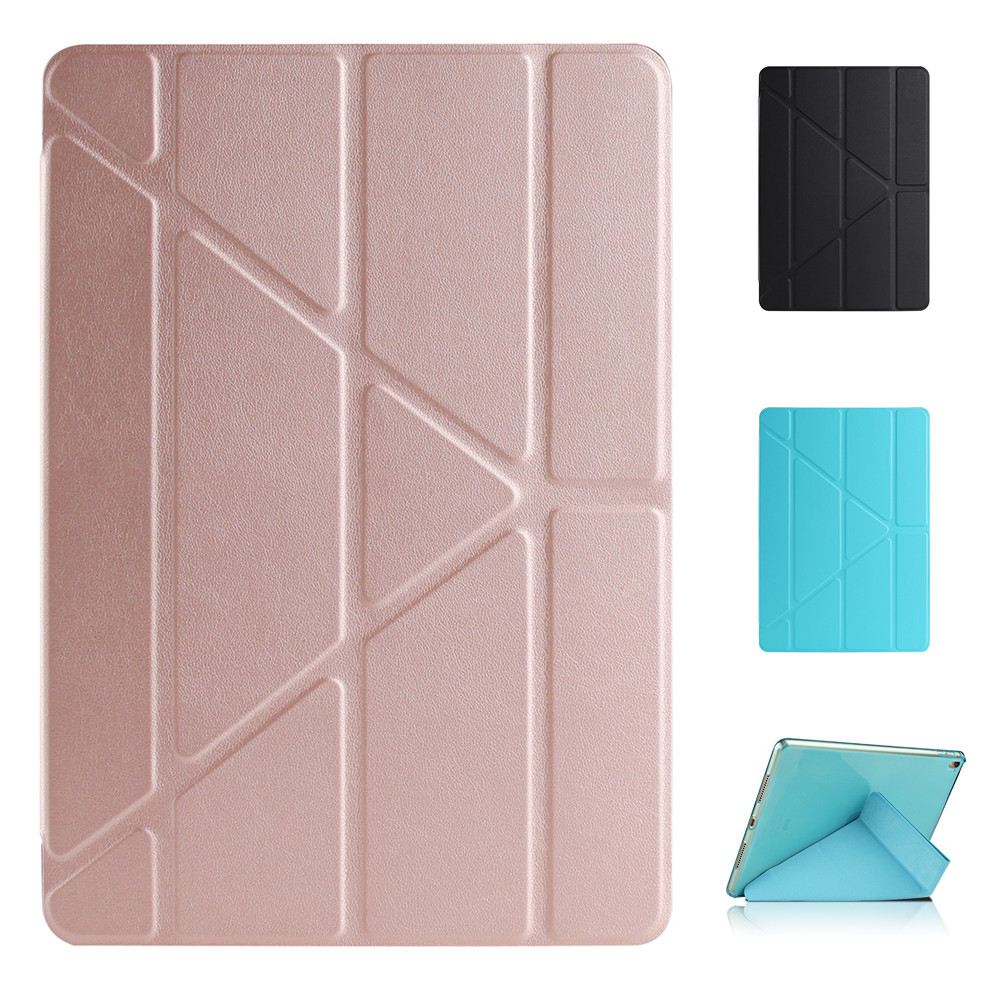 TPU Multi Fold Deformation Leather Plastic Protective Flip Case for iPad Air 2 Pro 9 7