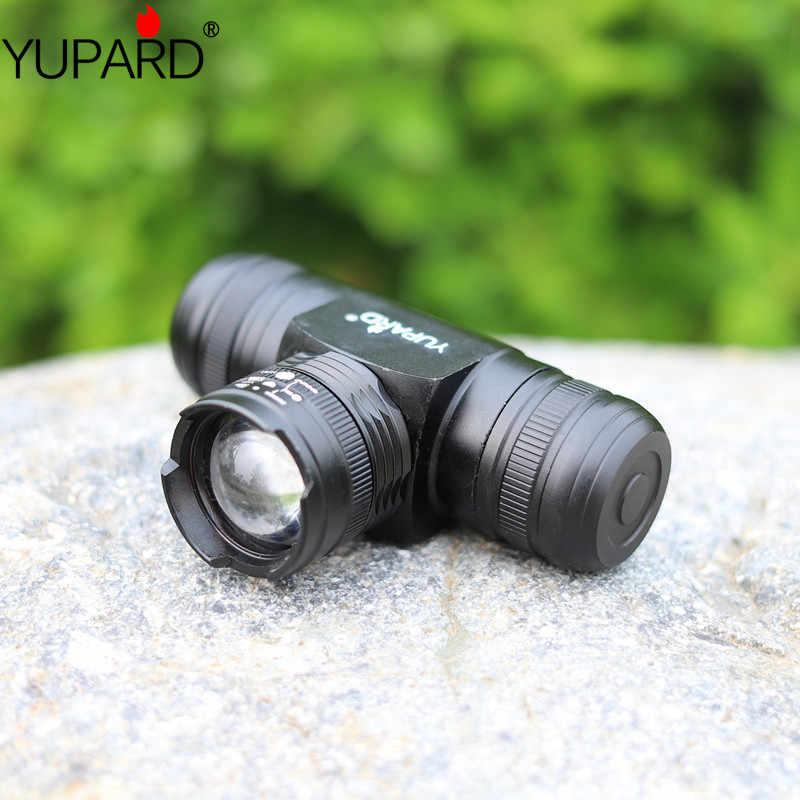 YUPARD زوومابلي التكبير في/أوو T6 LED كشافات ضبط المصباح 5 وضع ماء AAA 18650 بطارية قابلة للشحن 1000lm الشعلة