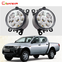 1 Pair Car Accessories Replace LED Fog Light Daytime Running Light DRL 12V For Mitsubishi L200