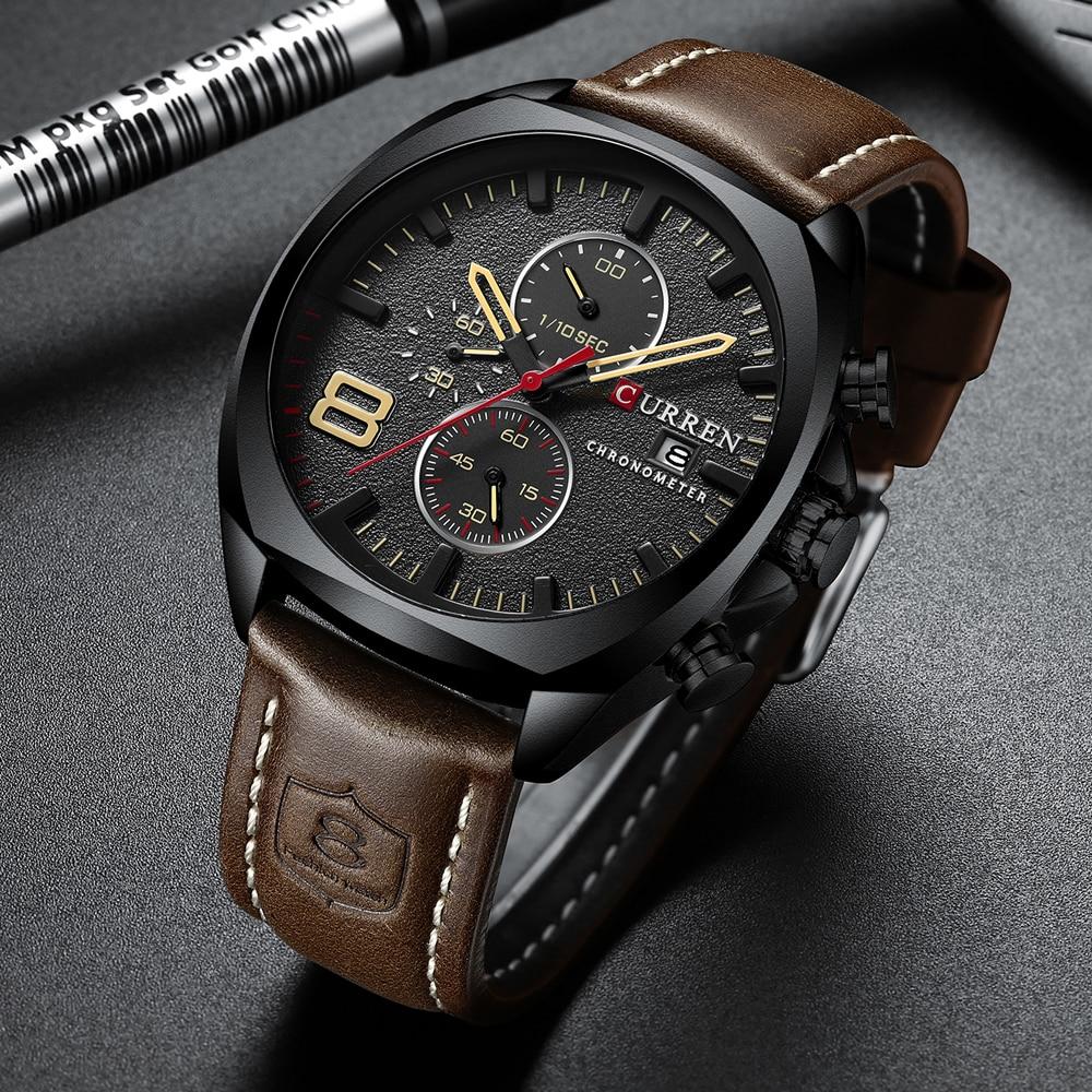 Image 2 - CURREN 2019 Fashion Mens Sport Watch Men Analog Quartz Watches Waterproof Date Military Multifunction Wrist Watches Men ClockQuartz Watches   -