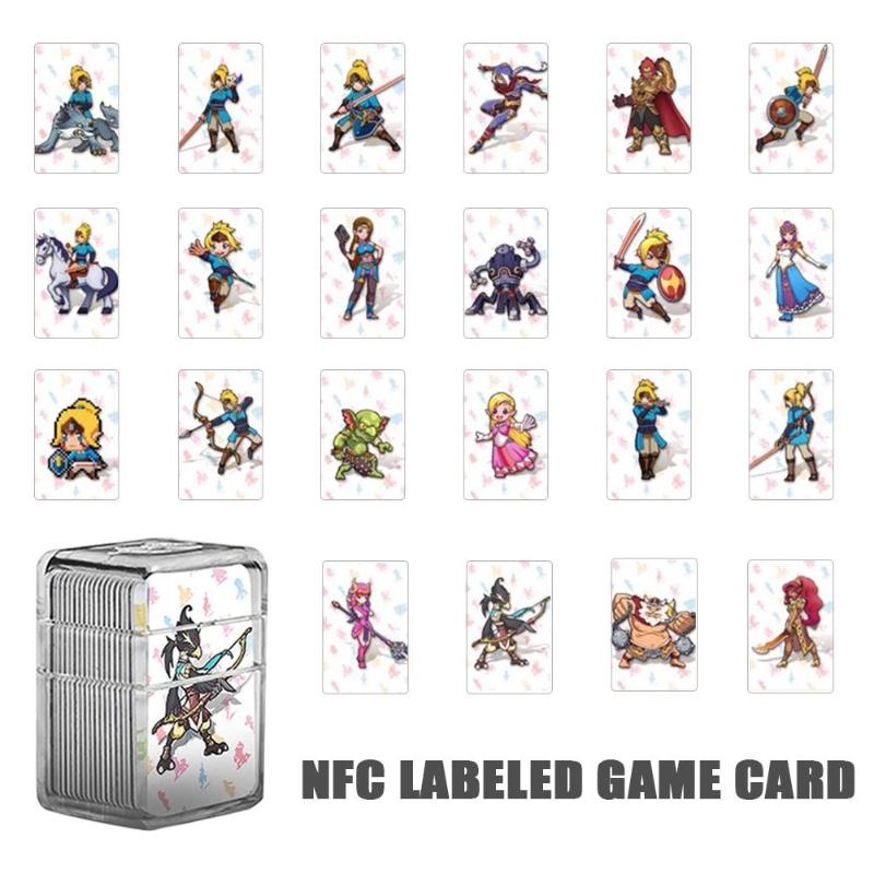 ALLOYSSED 22Pcs NTAG215 NFC Tag Game Card For amiibo Game the Legend of Zelda Breath of the Wild Mini Card For Nintend Switch NS