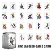 VKTECH 22Pcs NTAG215 NFC Tag Game Cards For amiibo Game the Legend of Zelda Breath of the Wild Mini Card For Nintend Switch NS