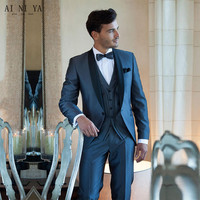 Product Best Selling 2015 Blue Man Suit The Groom S Best Man Wedding Dress Custom Made