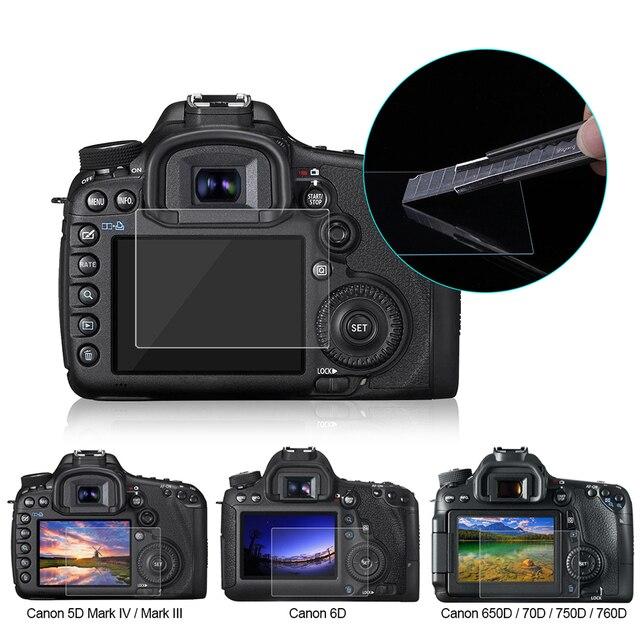 PULUZ מסך מגן עבור Canon 5D סימן III IV EOS 6D 7D Mark II 100D/M3 EOS 200D 650D 1200D SX600 G7X מזג זכוכית LCD סרט