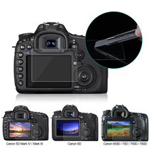 PULUZ Screen Protector For Canon 5D Mark III IV EOS 6D 7D Mark II 100D/M3 EOS 200D 650D 1200D SX600 G7X Tempered Glass LCD Film(China)