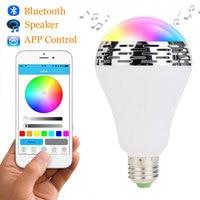 E27 Смарт лампы светодиодные RGB свет лампы bluetooth лампы Красочные затемнения Динамик лампочка приложение Управление смартфонов IOS и Android