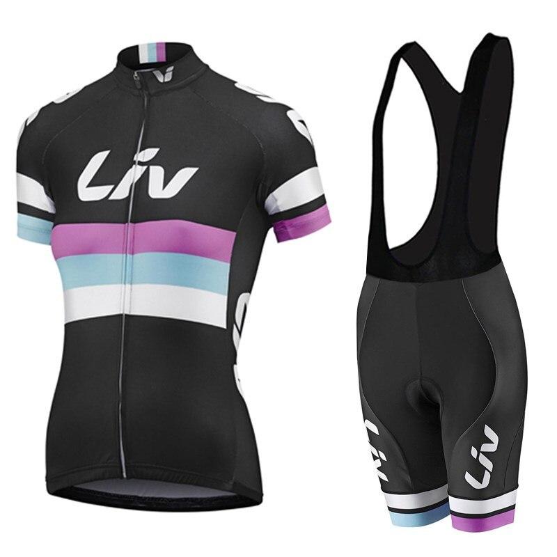 2018 Новый Для женщин Vélo комплекты Джерси Ropa De Ciclismo Майо велоспорт одежда комплект велосипед Носите гель площадку дышащий