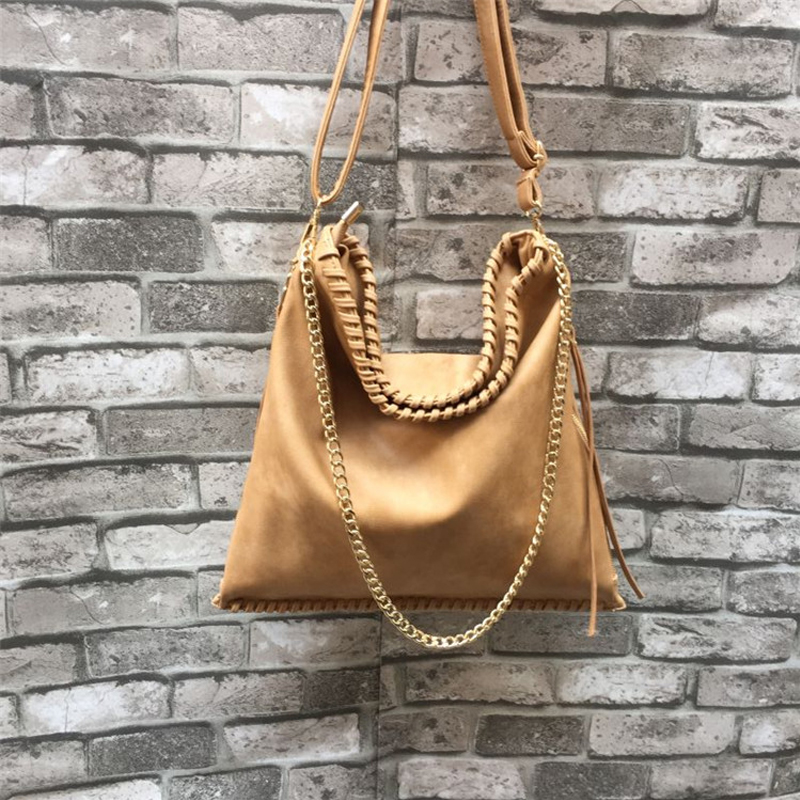 Aliexpress Women Hobos Purse Large Ping Bag Pu Leather Chain Strap Casual Messenger Knitting Yl Gift From Reliable Hobo Suppliers On