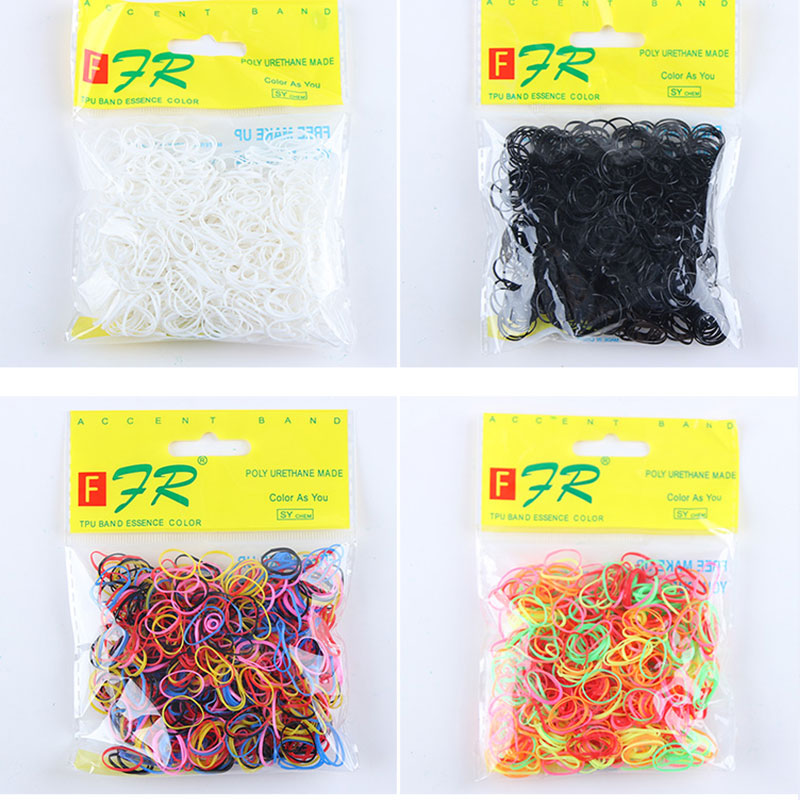 1000PCS/Lot Wholesale Girls Small Ring Disposable Rubber Band TPU Ponytail Holder Elastic Hair Band Kid Hair Accessories Tie Gum