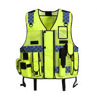 NEW Tactic Security Patrol Vest Hi Viz Yellow Industry Door Staff Workwear Safety Clothing high visibility night reflective safe