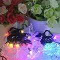 Solar Powered Night Light 30 LED Morning Glory Colorful Globe Fairy Lights String Light Garden Christmas Party Decoration