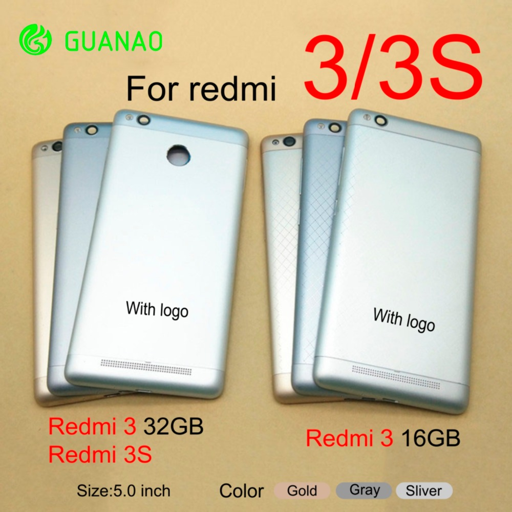 For <font><b>Redmi</b></font> 3 Pro Housing For Xiaomi <font><b>Redmi</b></font> <font><b>3S</b></font> 3 Pro 3Pro Metal <font><b>Battery</b></font> Back <font><b>Cover</b></font> Mobile Phone Replacement Parts Case image