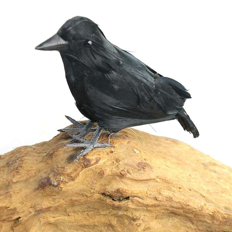 2018 Halloween New High-end Simulated Crow Props Halloween Decoration Farm Garden Raven Bird Repellent Ornaments Prop Decor