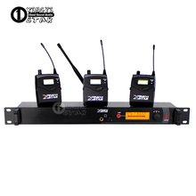 In Ear Monitor UHF Wi-fi System Skilled Stage Studio Cordless Monitoring In Earphone three Bodypack Receiver & 1 Transmitter