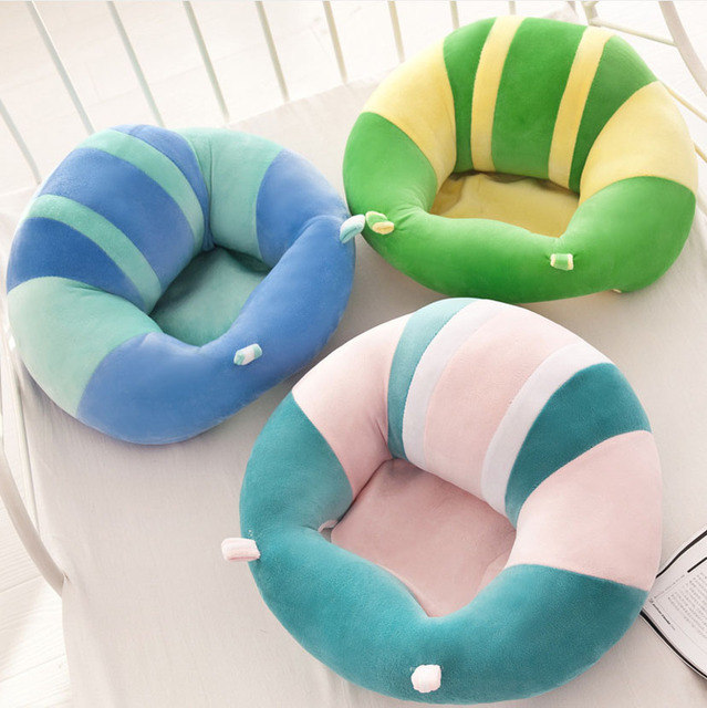 Infant Toddler Baby Support Seat Soft Cotton Travel Car Sofa Chair Pillow Cushion Learning To