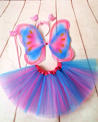 Butterfly Chiffon Fabric Costume Wings For Kids Stage Show Costume 2019 Carnival butterfly wing Skirts performance props Cosplay