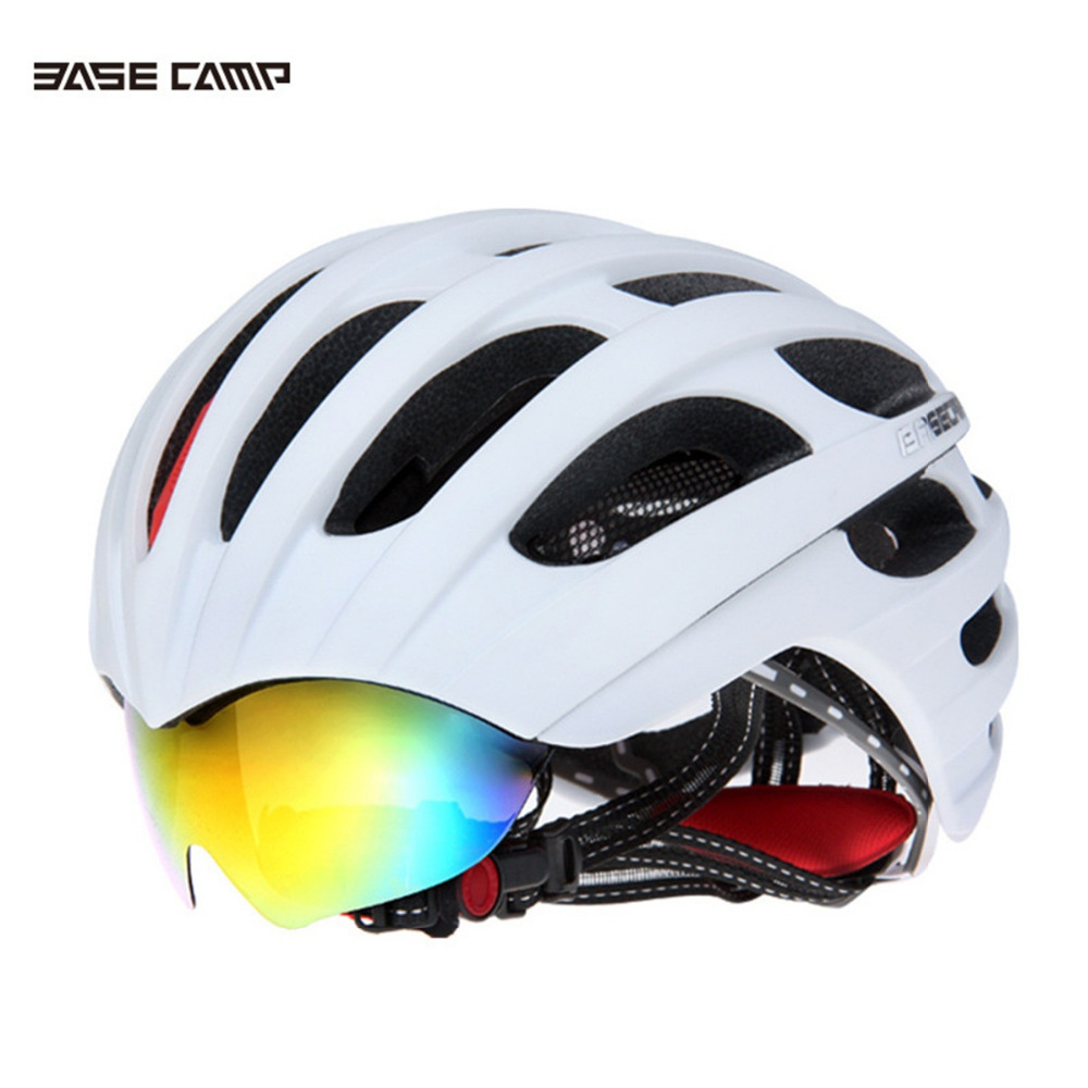 Bicycle Helmet MTB Road Cycling Helmet Glasses Cover Ultralight Breathable Men Women Professional Integrally-Molded Safe Helmets new bicycle helmets with cycling glasses ultralight breathable men women professional bike helmets mirror 3 lens h5063