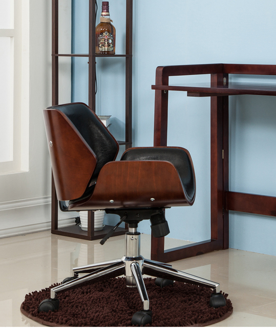 solid wood computer chair home office chair rotary swivel chair